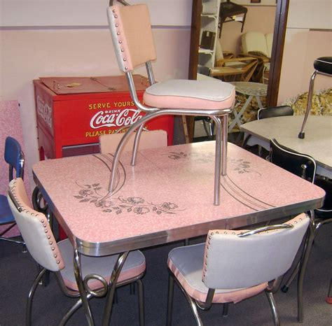 1950s formica kitchen table and chairs chrome and formica dining sets pink patterened formica
