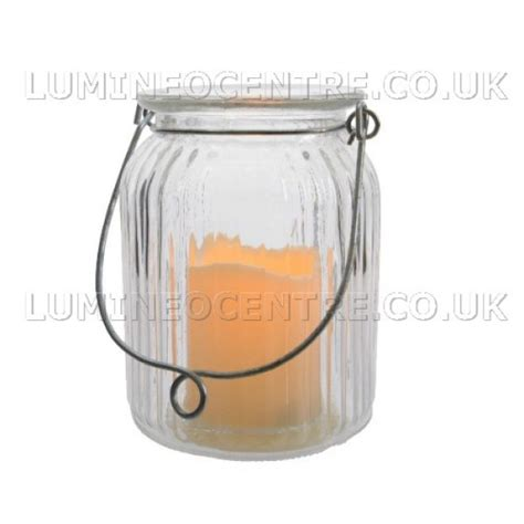 lumineo led glass pinecone lumineo led flicker candle in glass jar