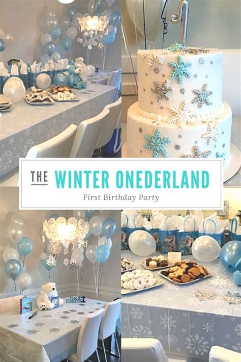 birthday themes for january beautiful winter onederland first birthday party