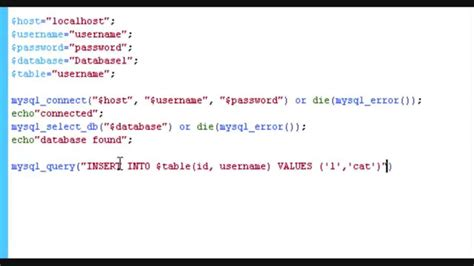 date format in php mysql at insert php insert data into a mysql database part 1 youtube