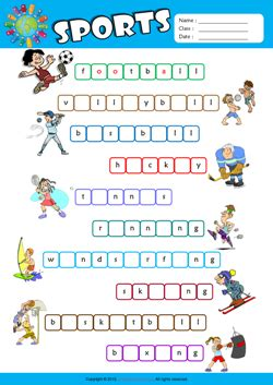 4 Letter Words Related To Sports sports esl printable worksheets for 2