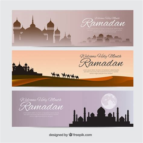 design banner ramadan several ramadan banners vector premium download