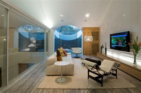 modern home theater with comfy furniture design at home