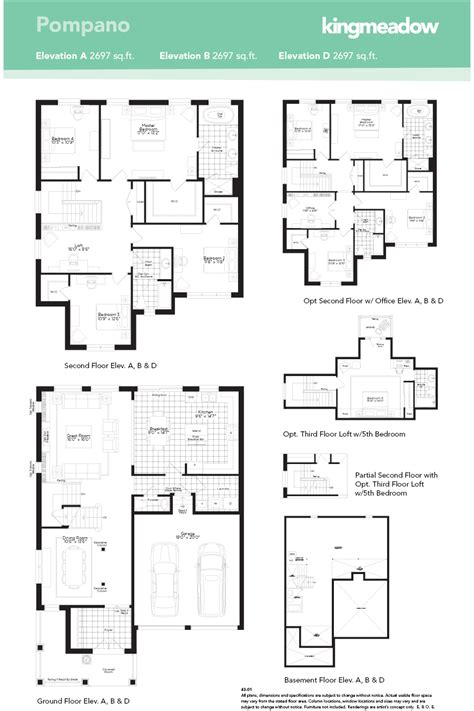 floor plan for new homes the pompano at kingmeadow in oshawa by the minto group