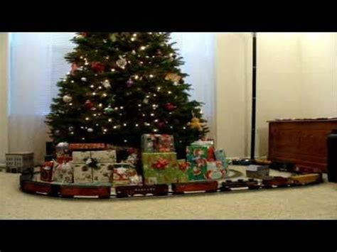 lionel o scale trains around the christmas tree 2010 youtube