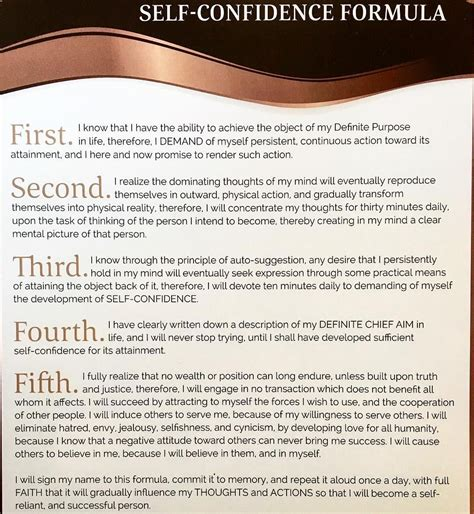self confidence napoleon hill pdf commit this self confidence formula to memory read it aloud once per day with full faith that