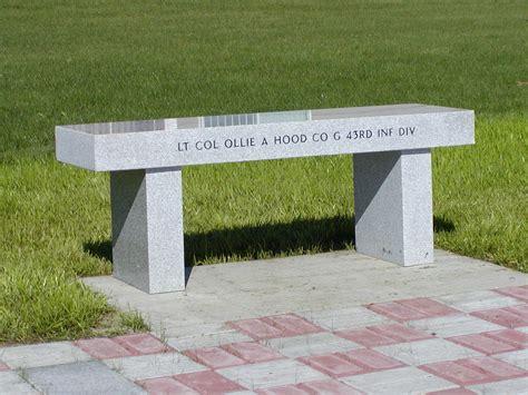 marble memorial benches granite memorials central maine veterans memorial park