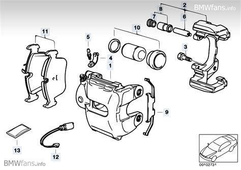 brake caliper parts diagram brake caliper parts pictures to pin on pinsdaddy