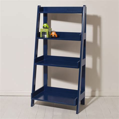 ladder bookcase navy shark collection toddler boy