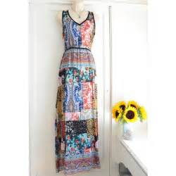 Anthropologie Patchwork Dress - anthropologie tolani boheme silk patchwork dress w