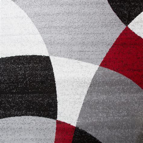 teppich kurzflor rot designer teppich abstrakte halbkreise rot design teppiche