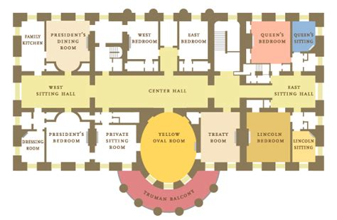 white house layout whitehouse floor plan