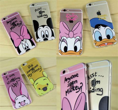 Disney Big Donald Softcase For Iphone 55s66s66s aliexpress buy minnie mickey donald duck piglet poof duck phone