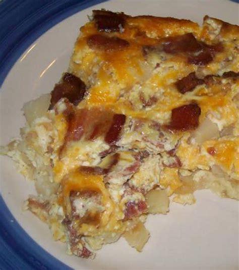 bacon potato egg breakfast casserole recipe dishmaps