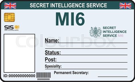 mi6 id card template the identity a secret of mi 6 certification secret