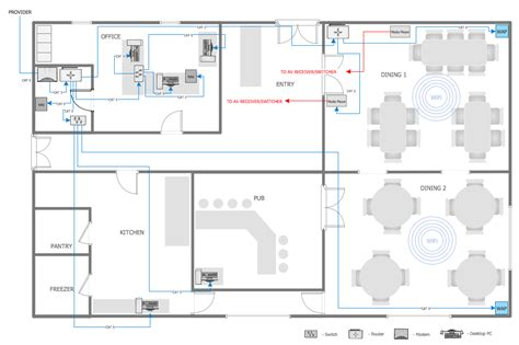 restaurant floor plans new create floor plans line for conceptdraw sles computer and networks network