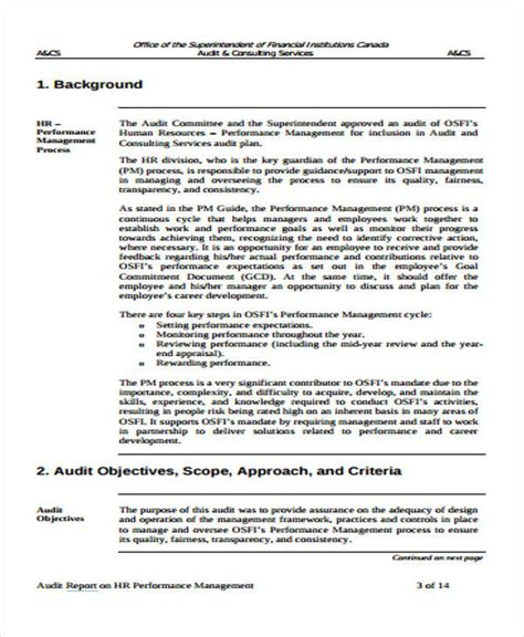 Audit Template Sle by Sle Hr Audit Report Template 28 Images Audit Report
