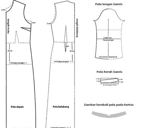 cara membuat pola baju jas pola baju gamis kerah syal danitailor