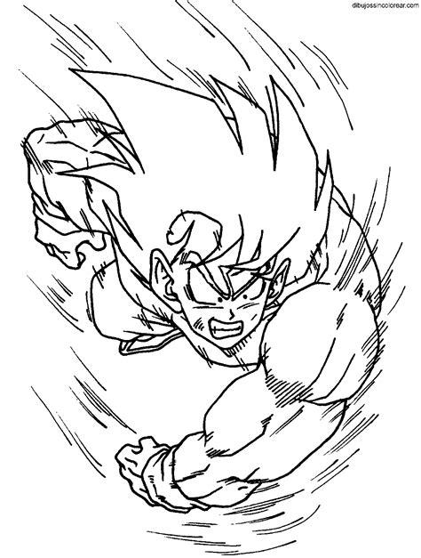 imagenes de goku gt para colorear dibujos de goku dragonball z para colorear