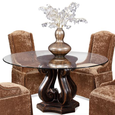 glass dining room table bases nice glass round dining table homeoofficee com