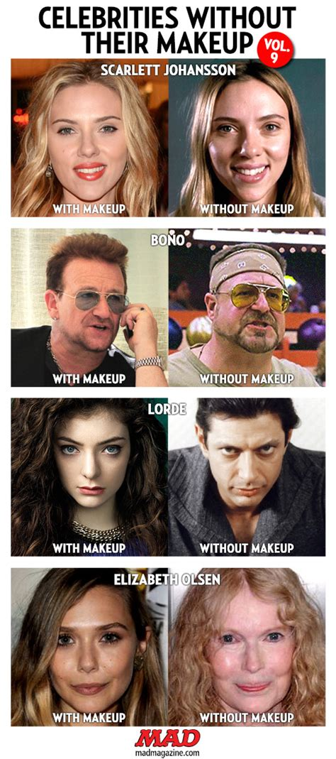 celebrities without their makeup mad celebrities without their makeup vol 9 mad magazine
