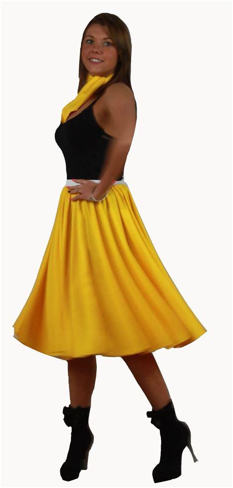 Rok Set Bandana rock n roll skirt scarf set 1950s 1960s yellow fancy