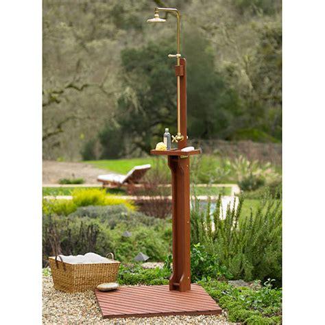 delahey wooden outdoor shower plumbing fixtures walmart com