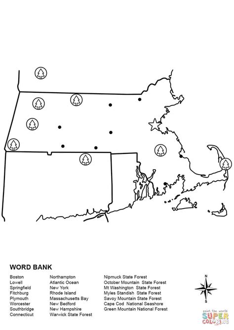 printable map massachusetts massachusetts map worksheet coloring page free printable