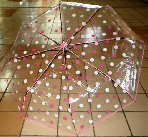 Payung Transparan Polkadot my bi nis jual payung transparan polkadot lipat 3 cantik