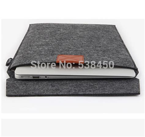 Promo Tas Laptop Sleeve Felt Macbook Pro Air Retina 11 12 free shipping gray woolen felt envelope laptop sleeve bag skin for macbook air pro 11