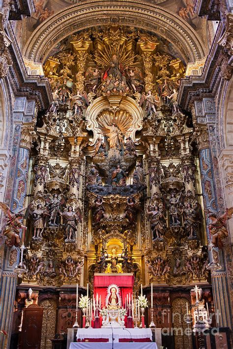 Sell Home Interior by High Altar Of The Seville Cathedral Photograph By Artur