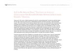 Of Shalott Essay by The Of Shalott Feminist Reading A Level Marked By Teachers