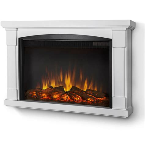 Best White Electric Fireplace All Home Decorations White Electric Fireplace With Bookcase