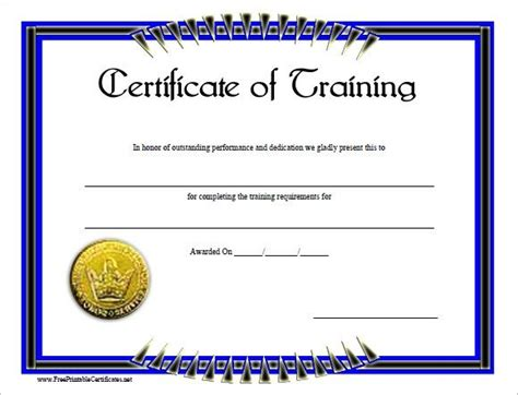 25 best ideas about training certificate on pinterest