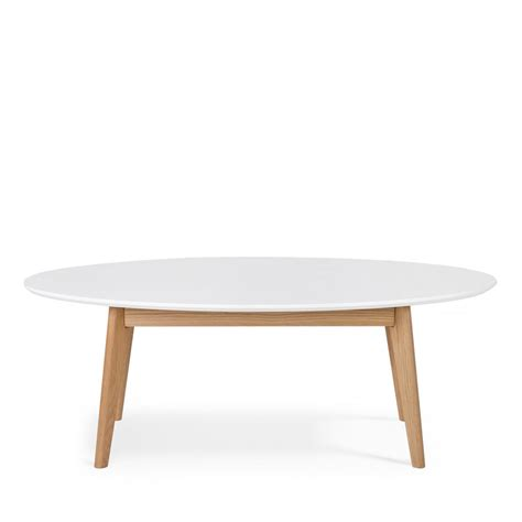 Table Basse Ovale Blanche 494 by Table Basse Scandinave Ovale Skoll By Drawer