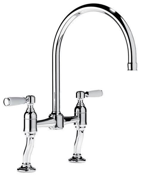 Traditional Kitchen Faucet Samuel Heath Two Handle Kitchen Faucet Traditional Kitchen Faucets Other Metro By