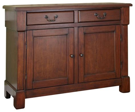 buffets and sideboards home styles aspen buffet in rustic cherry transitional