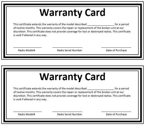 Warranty Card Template Psd by 8 Free Sle Warranty Certificate Templates Printable