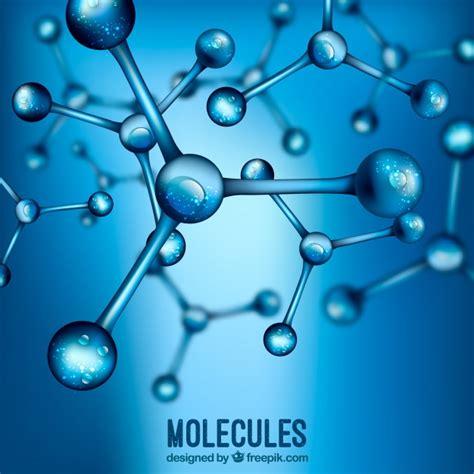 fond bleu flou molecules realistes telecharger des
