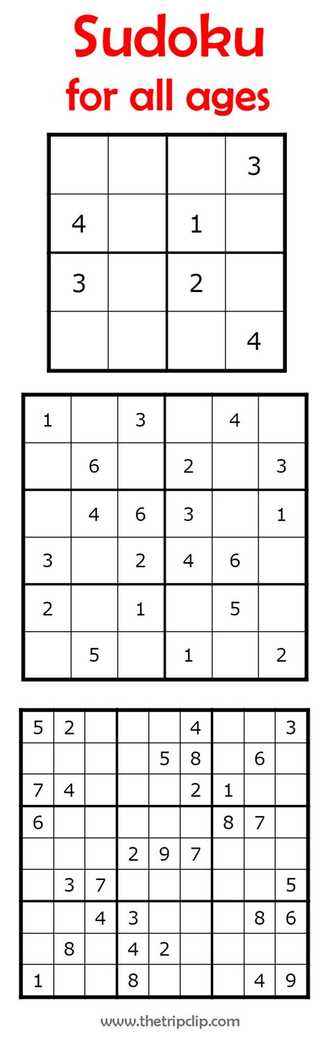 printable kid sudoku puzzles sudoku for all ages plus lots of other printable