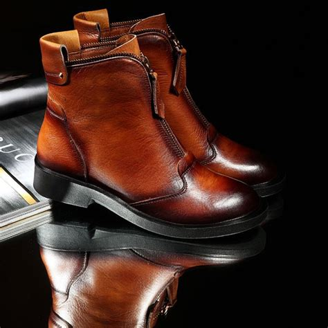 Is Real Leather by Free Shipping Real Genuine Leather Boots