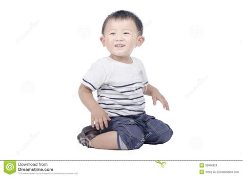 smiling kid sit on the floor stock image image 32876929