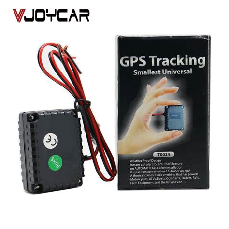 vjoycar t0024 smallest gps tracking device gsm alarm for