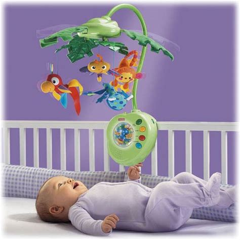 Tiny Sided Book Mainan Bayi fisher price rainforest peek a boo leaves musical mobile crib toys baby