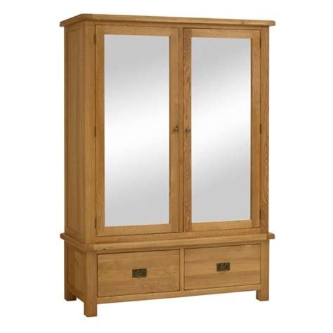 Wide Wardrobe Salisbury Oak Wide Mirror Wardrobe Including Free Delivery