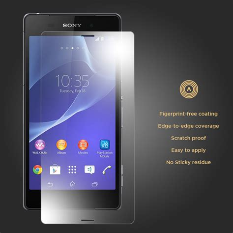 Xpro Tempered Glass Xperia Z Clear 9h tempered glass screen protector for sony xperia z3 clear