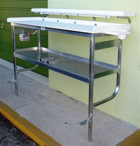 aluminum fish cleaning table fish cleaning tables tuna tables atlantic aluminum marine
