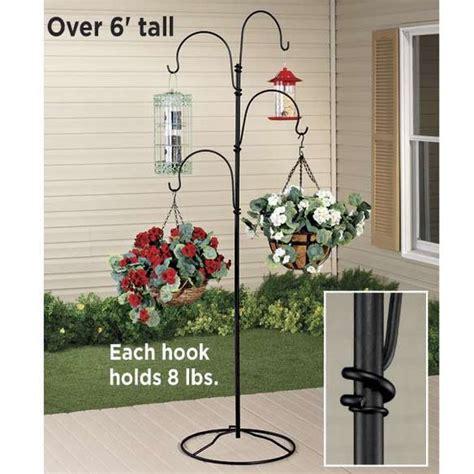 hanging flower pot hooks indoor patio growing plant stand 4 arm shepherds hook