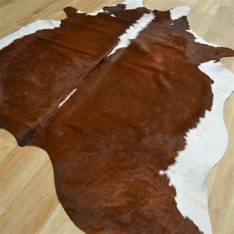 Brown And White Rug by Cowhide Rugs Mer051713 In Brown And White Free Uk