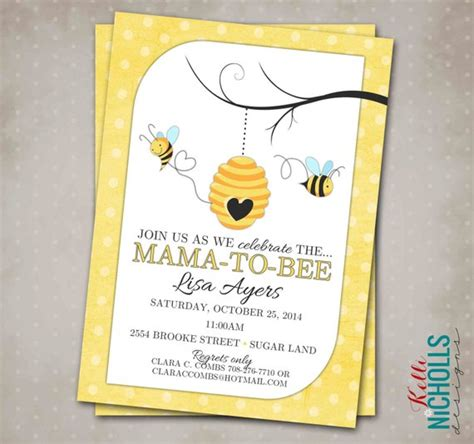 Bee Baby Shower Invitations by Bumble Bee Baby Shower Invitation Custom By